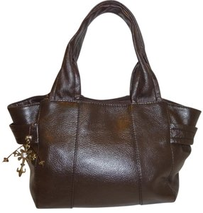Tignanello Refurbished Leather Lined Satchel in Brown