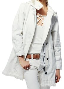 Free People White Womens Jean Jacket