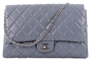 Chanel Classic Flap Lavender Clutch