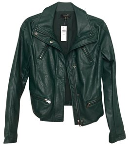 Ann Taylor Dark teal Leather Jacket