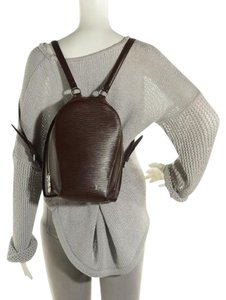 Louis Vuitton Epi Leather Silver Hardware Signature Backpack