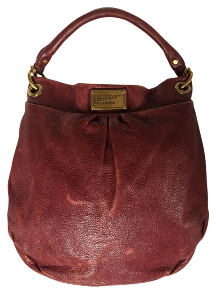 0a60a744fac Marc Jacobs Classic Q Hillier Hobo Burgundy Leather Cross Body Bag ...
