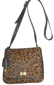 Fossil Refurbished Leather Cheeta Print Cross Body Bag