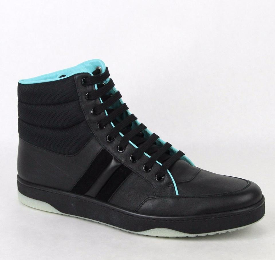 e207d5db299 ... gucci black leather hi top sneakers 8 g us 8 5 368517 shoes tradesy ...