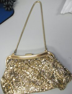 Whiting & Davis Vintage Mesh Gold Clutch