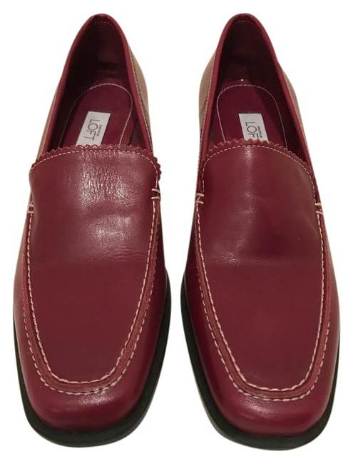 Item - Red Leather Loafers Flats Size US 8.5 Regular (M, B)