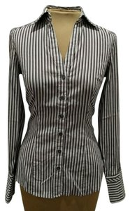 Express Design Studio Striped Button Down Shirt