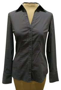 Express Design Studio Charcoal Button Down Shirt