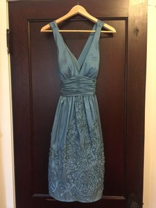 Adrianna Papell Blue/ Grey/ Silver Adrianna Papell Irridescent Dress