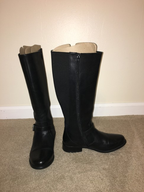 Item - Black /Leather Riding Plaza Pilot Boots/Booties Size US 9 Wide (C, D)