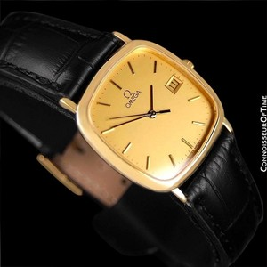 Omega Omega De Ville Mens Midsize Dress Watch with Quick-Setting Date