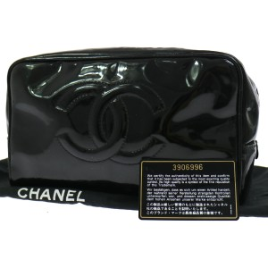 Chanel Chanel Patent Leather Cosmetic Case