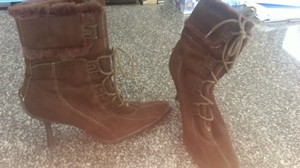 Anne Klein Sexy Comfy Unique Sporty On Trend brown Boots