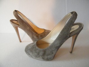 Brian Atwood Suede Leather Grey Pumps