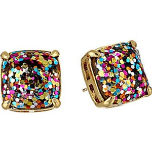 Kate Spade NEW Kate Spade New York MultiColor Glitter Studs Earrings - 12k Gold
