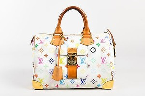Louis Vuitton Murakami White Tote in Multi-Color