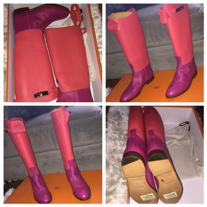 Herms Coral/Fuchsia Boots