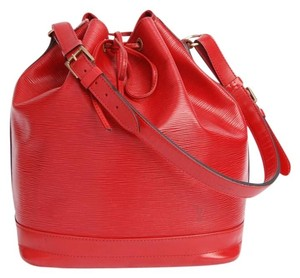 Louis Vuitton Epi Canvas Noe Leather Tote in Red