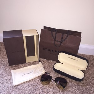 Louis Vuitton Louis Vuitton Sunglasses Monogram On Lense Conspiration Pilote Brown Gold