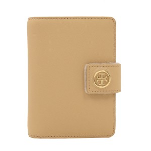 Tory Burch Robinson French Fold Wallet, Toasted Wheat, Saffiano Leather