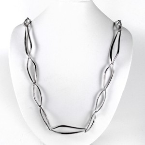Alexis Bittar NECKLACE - SILVER CHAIN CRYSTAL JEWELRY