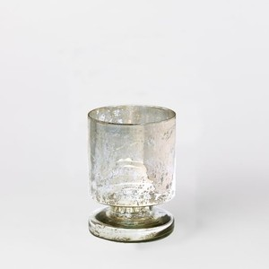 West Elm - Silver Mercury Footed Vase