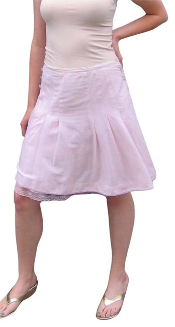 Preload https://img-static.tradesy.com/item/199650/odille-pink-pale-pink-cotton-button-detail-knee-length-skirt-size-8-m-29-30-0-0-650-650.jpg