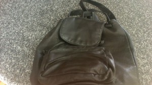 Kenneth Cole All Leather Nice Size Cool Backpack