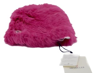 Moncler Moncler Rabbit Fur kids Hat In Pink Moncler Logo Size Medium