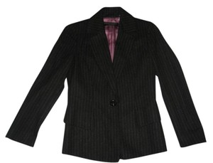 Dana Buchman Dark Charcoal wtih light gray pin stripes Blazer