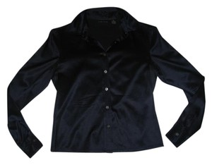 The Limited Silk Top Navy