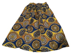 Folahautestyle Maxi Skirt Blue and yellow