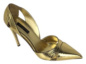 Louis Vuitton gold Pumps