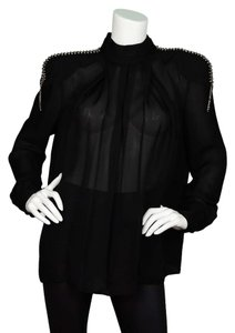 Balmain Black Beading Top