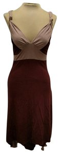 Brown Maxi Dress by Guess Tan High Low