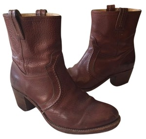 Frye 76400 Jane Trapunto Dark Brown hint of red Boots