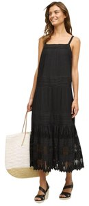 Black Maxi Dress by Anthropologie Holding Eyelet Maxi