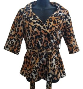 Forever 21 Animal Print Lightweight Fall Autumn Pea Coat