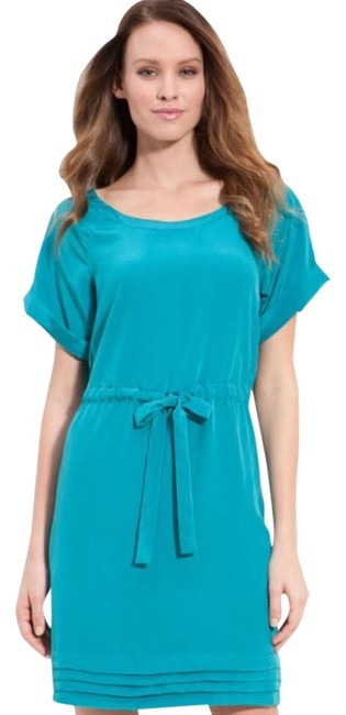 Presley Skye short dress Teal Silk Silk Beach Skye on Tradesy