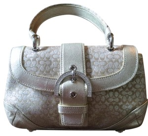 Coach Exceptional Value Satchel in Silver/Cream