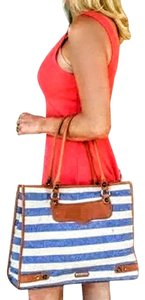 Rebecca Minkoff Tote in Blue & White Striped