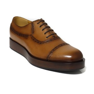 Gucci 353028 Men Lace-up Leather Brown Formal