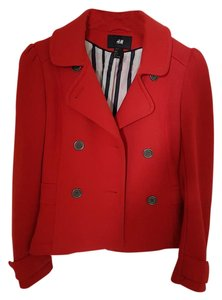 H&M Coat Jacket Fall Red Blazer