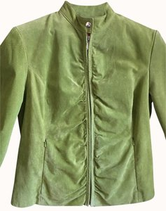Wilsons Leather Maxim Suede Lime Green Leather Jacket