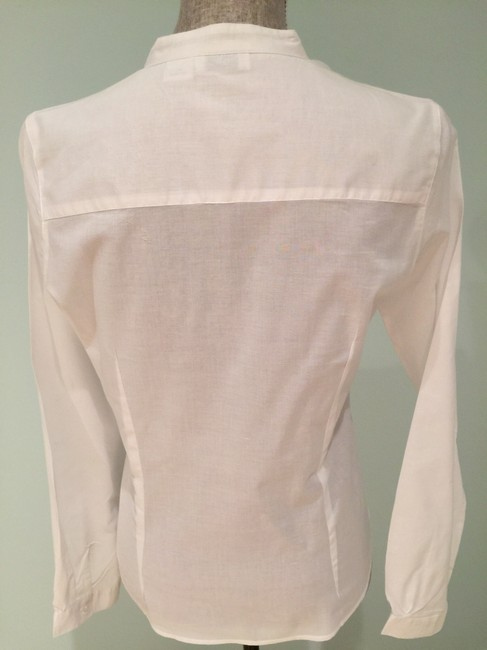 Other Blouses Sheer Blouses Sheer Ruffled Button Down Shirt White