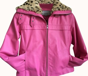 Wilsons Leather Maxima Pink Leather Jacket