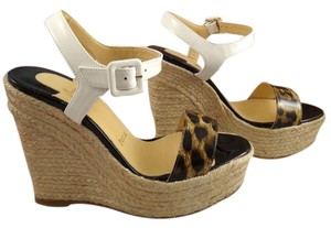 Christian Louboutin Leopard Spachica Wedge white Wedges