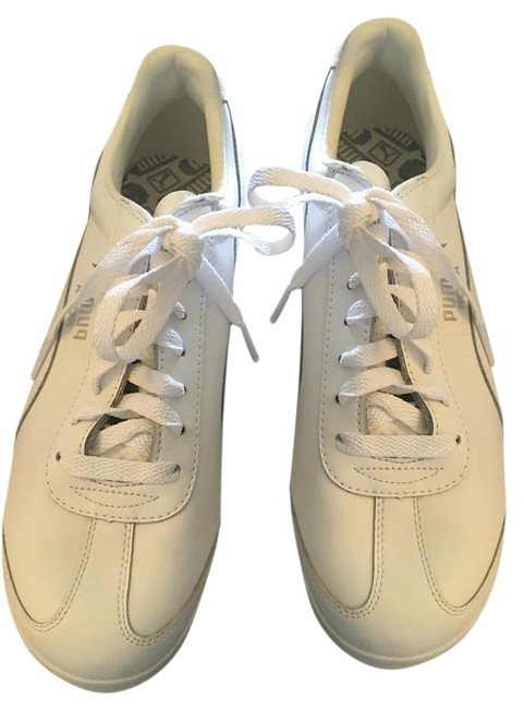 White/ Men's Lace Up Sneakers Size US Regular (M, B) White/ Men's Lace Up Sneakers Size US Regular (M, B) Image 1
