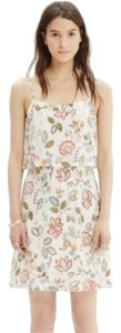 Madewell short dress Cream & Floral Botanical Print Cami Overlay on Tradesy