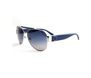 Tory Burch NEW Aviator Sunglasses TY 6043Q c. 31164L Silver & Navy /Gradient lens
